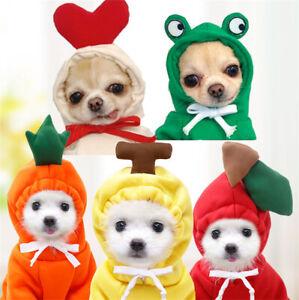 Dog Winter Fruit Clothes Cute Warm Coat Hoodies Fleece Pet Dogs Costume Jacket
