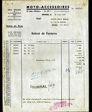 "NANTES (44) FOURNITURES pour MOTOS ""MOTO ACCESSOIRES"" en 1957"