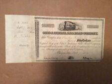 Ohio & Indiana Railroad Company 1854