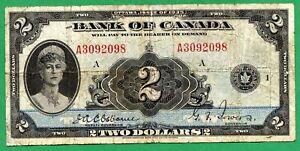 1935 2 dollar two dollars English