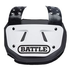 NEW Battle Youth Back Plate Football White/Black/Gold Fits Youth Shoulder Pads