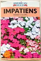 Impatiens Seeds Mixed Colors by American Seed Covers 25 Sq Ft