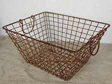 P3269 Austernkorb ~ Metallkorb ANTIK ~ Oyster basket ~ RARE