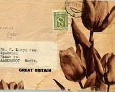 AUSTRIA Cover FLOWERS BULBS Advert 1934 Spalding Lincs Supplier TULIPS CB342