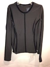 NWT! Puma Nocturnal Womans Velvet Black Long Sleeve Dry Cell Shirt Sz Med