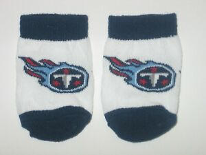 Tennessee Titans Team Logo Cotton Baby Booties - (Pine Hosiery)