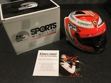 Kimi Raikkonen Ferrari F1 F14T 2014 Signed 1/2 half scale helmet