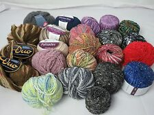 GB68 -23 sk Knitting/Crochet/Charity Yarn Large Lot Grab Bag - 2 lbs 9.2 oz