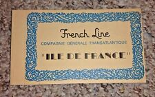 Vintage Postcard booklet Cruise Line FRENCH LINE CGT Ship ILE DE FRANCE interior