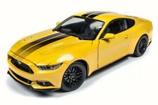 2016 Ford Mustang GT, Yellow - Auto World AW229 - 1/18 Scale Diecast Car