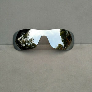 Silver Mirrored Replacement Lenses for-Oakley Batwolf oo9101 Polarized