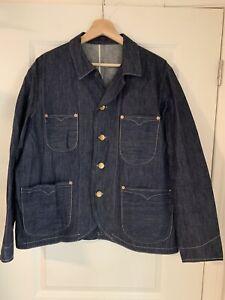 LVC LEVI'S VINTAGE CLOTHING 1910 SELVEDGE DENIM CHORE SACK COAT WORK JACKET SZ M