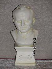Büste Papst Figur Stuckgips Dekoration Kopf Säule Statue Kaiser Rom Crem