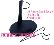 2 X 1/6 Figure Stand Set W/ Name Plate For Narrow Shoulder Figure SHIP FROM USA