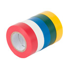 Electrical Wire Tape 5 Pack Set Assorted Colors Flame Retardant General Purpose.