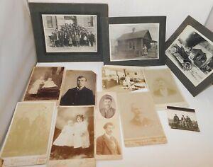 Lot of 12 Antique photos Portland, Corvallis, Albany Oregon Car Homestead