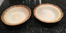 "2 Mikasa Whole Wheat 9-5/8"" E 8000 Round Vegetable Serving Bowls"