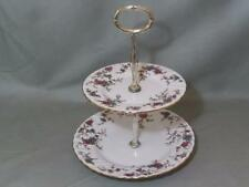 Minton Ancestral Bone China 2-Tier Hostess Cake Plate Stand S376