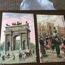Hand Coloured/Painted Collectable European Postcards