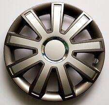 "Set di 4 16 ""rifiniture ruota, Cerchioni, Tappi Per Adattarsi Audi A1, A2, A3 + regalo gratuito # 9"