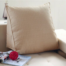 Backrest Support Reading Pillow Filled Triangular Wedge Cushion for Daybed Sofa