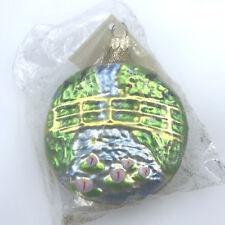 Patricia Breen Monet Glittered Japanese Bridge Water Lily Medallion Ornament Vtg
