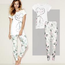Ladies Pyjamas - Nellie Elephant Pyjama Sets - Available in Plus Sizes: 14 - 24