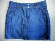 Womens Jean Skort-SONOMA-dark blue 100% cotton denim zipper pockets-12