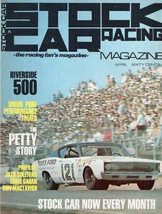 Stock Car Racing Magazine, April 1968 - The Petty Story, Don Mactavish,*