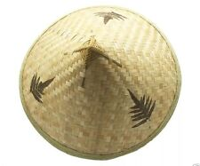Chinese Straw Bamboo Hat Asian Pool Party Costume Coolie Farmers Cina Vietnam