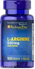 BPR009- ARGININA 500mg 100c  Salud sexual, Antienvejecimiento PURITANS ENVIO24h