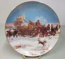 Lowell Davis Danbury Mint Winter Chores Plate #Ab7957 American Farm Collection