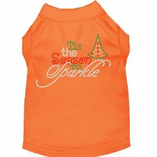Mirage Pet Products Tis the Season to Sparkle Rhinestone Dog Shirt Orange XS (8)