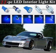 11-pc Blue LED Interior Light Package Kit Fit 2005-2013 Chevrolet Corvette C6