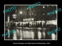 OLD 8x6 HISTORIC PHOTO OF DETROIT MICHIGAN EDDIE STEEP FORD DEALERSHIP c1940