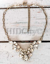 Crystal Feather necklace Crew Statement Crystal US Seller Cluster SOLD OUT!