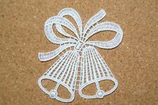 Christmas/Wedding - Bells - sew-on lace motif/applique/patch/craft/card making