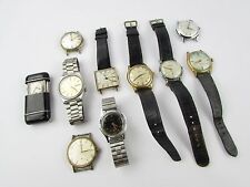 Lot of 10 x Vintage ORIS, AVIA, SEIKO etc Gents Mechanical Watches for REPAIRS