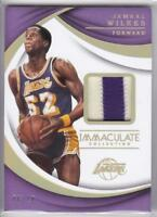 2017-18 JAMAAL WILKES PANINI IMMACULATE 2-COLOR PATCH RELIC #/10