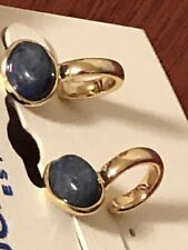 lucky brand gold plated set stone stud hoop earring new with tags