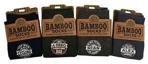H&H Top Bloke - Natural Bamboo Mens Gift Socks - Pre-Personalised Names One Size