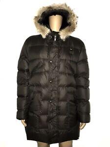 Blauer USA Men's down Jacket Real Fur Dark Brown Size: 54/56 New / New