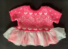 Build-A-Bear Pink Fair Isle Dress **EXCELLENT CONDITION**