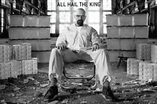 "Breaking Bad All Hail the King tv show poster 24 x 36"" Walter surrounded by cash"