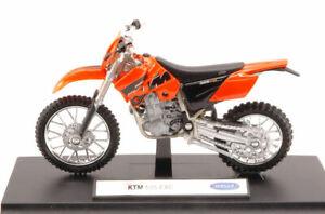 Modellino moto Welly KTM 525 EXC CROSS 1:18 motor bike motorbike diecast