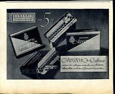 MURATTI -- Ariston cabinet -- maintenant 5 pf -- Garantie Haut -- publicité de 1937 -