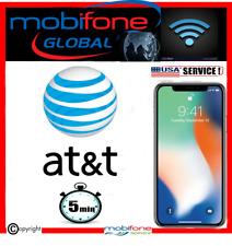 Unlocking iphone  AT&T USA models till x fast service