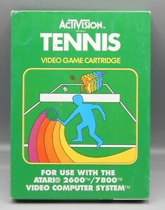 Vintage 1981 Atari 2600 TENNIS w/ Box PAL Game VARIANT Cartridge ACTIVISION !!!