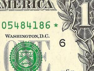 SOLID STAR ERROR UNC 2009 $1 DOLLAR BILL NOTE CURRENCY PAPER MONEY