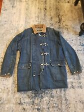 Vintage 90s Polo by Ralph Lauren Denim Field Work Jacket Fireman Toggle Coat